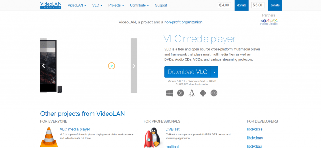 VLC Player the best software for windows