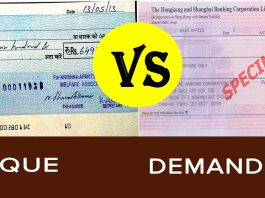 demand draft vs cheque