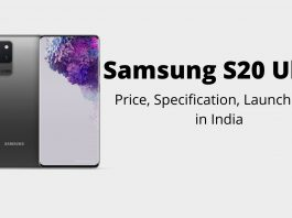 Samsung S20 Ultra price, specification